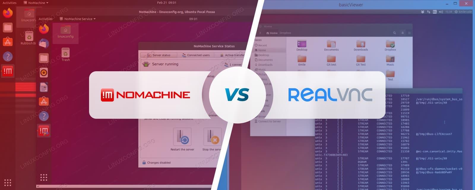 NoMachine vs RealVNC