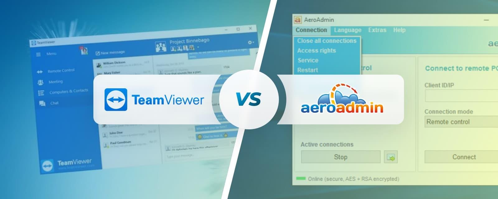 AeroAdmin vs TeamViewer