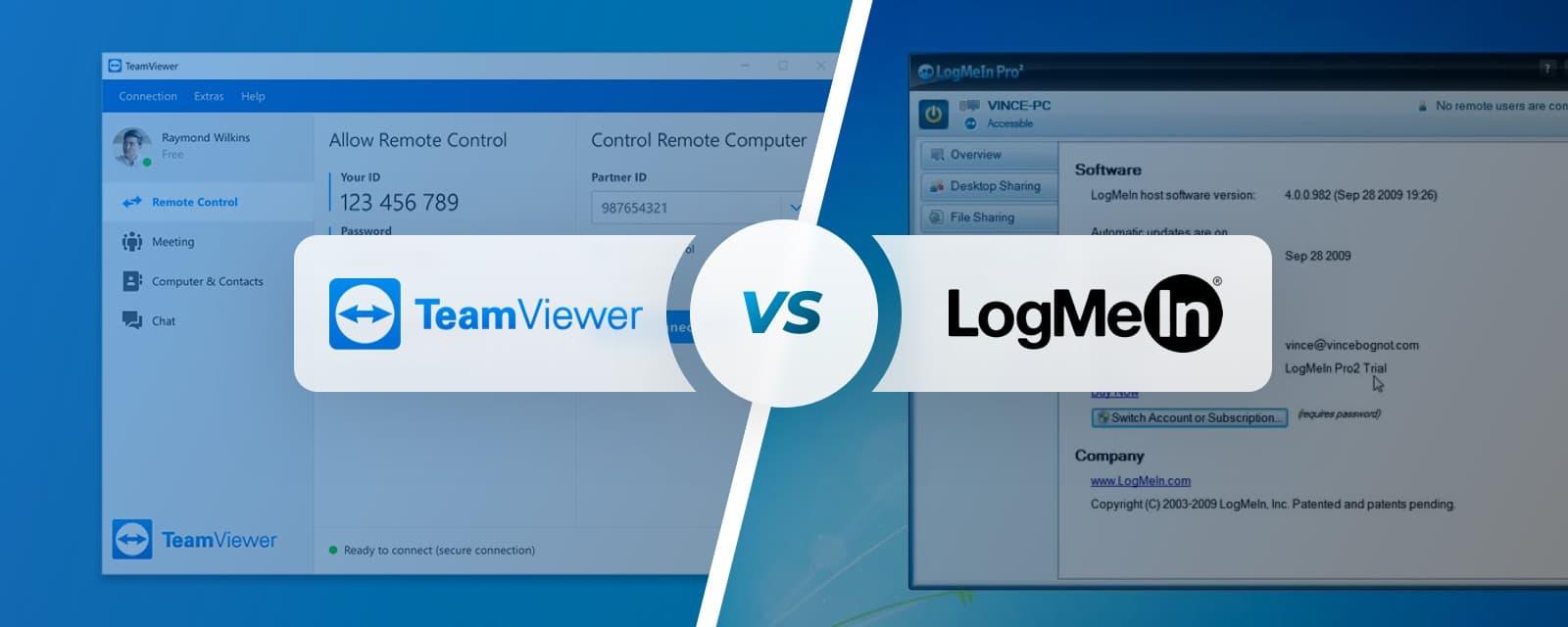 LogMeIn vs TeamViewer