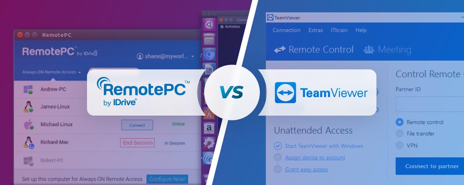 teamviewer vs remotepc