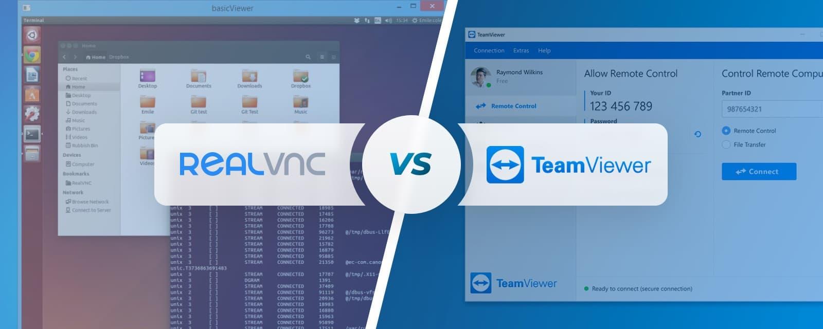 TeamViewer vs RealVNC Comparison