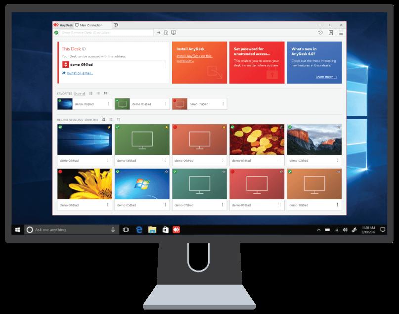Anydesk Windows Main