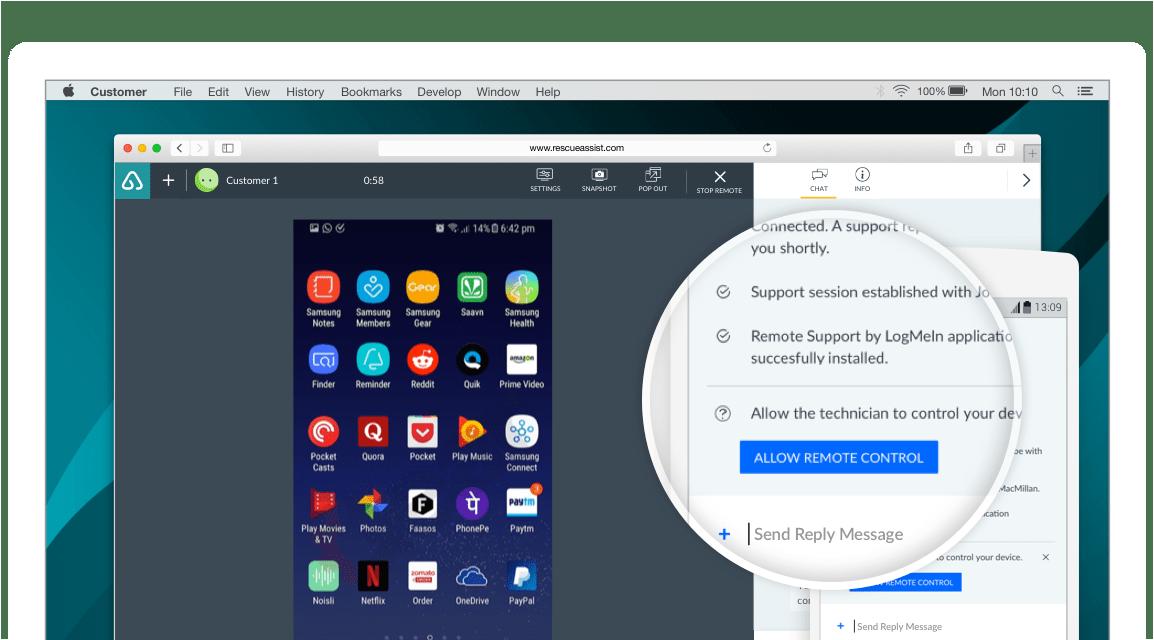GoToAssist Mobile Remote Support