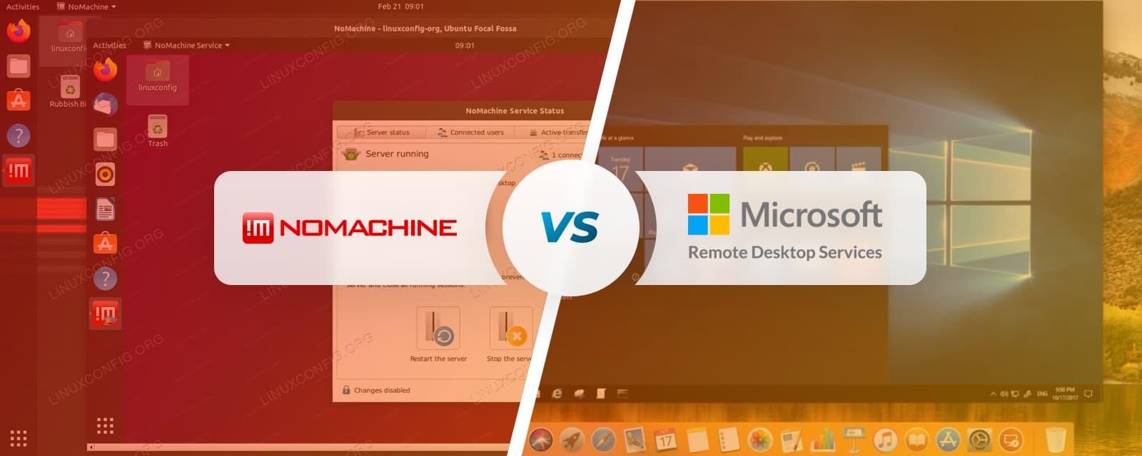NoMachine Vs Microsoft Remote Desktop Protocol